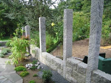 Design Kuchenutensilien Zaun Granit Palisaden